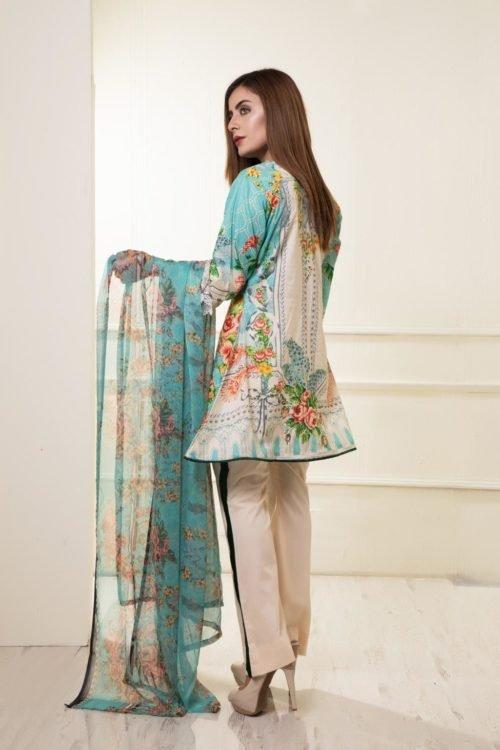 *On Sale* Rang Rez Designer Lawn Chiffon Dupatta Salwar Suit