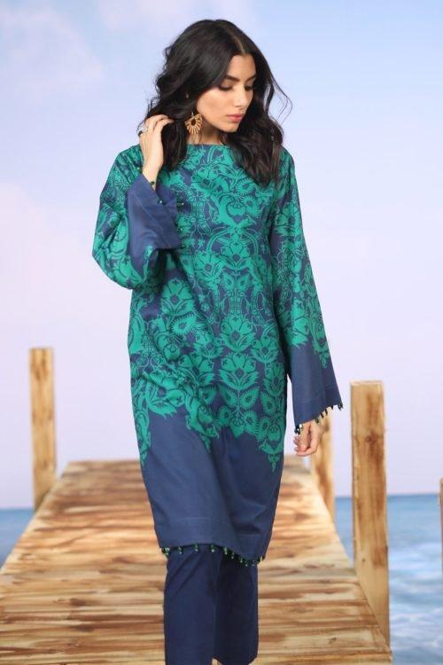 *On Sale* Alkaram Spring Summer Vol 2 SS-24-19-2-Green HOT Alkaram Pakistani Suits