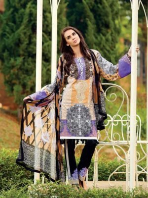 ~Sold out~ Sapphire Lawn Vol-3 Eid Edition 2017 – Russian Orchid A Chiffon Dupatta Salwar Suit