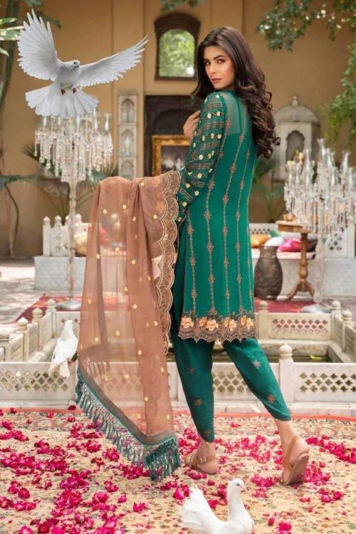 Maryam Gold Luxury Chiffon Vol 4 - Original Maryam Gold Luxury Chiffon Vol 4 Chiffon Dupatta Salwar Suit