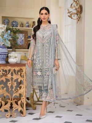 Gulaal Luxury Formals Jardin D' Amour - Original Gulaal Luxury Formals Jardin D' Amour D4 Chiffon Dupatta Salwar Suit