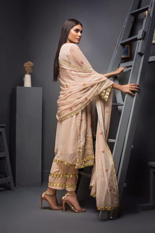 Kalyan Festive Chiffon Embroidered - Original Kalyan Festive Chiffon Embroidered Chiffon Dupatta Salwar Suit