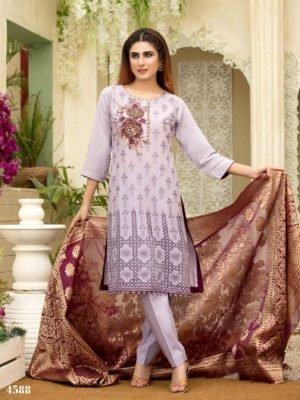 *Hot on Sale* Super Festive Lawn by Jahanara Textiles HOT Chiffon Dupatta Salwar Suit