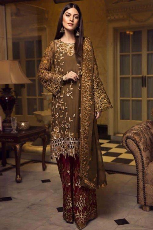 *On Sale* Zircon by Zebtan HOT Chiffon Dupatta Salwar Suit