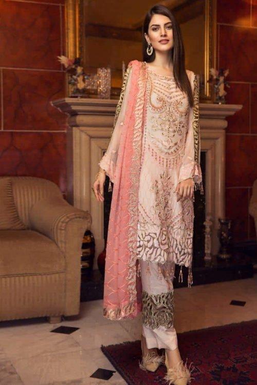 *On Sale* Zircon by Zebtan RESTOCKED Chiffon Dupatta Salwar Suit