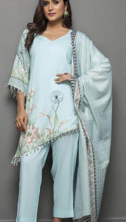 Sahil Pakistani Suit Printed Lawn Lawn - Reloaded Lawn Dupatta Salwar Suits