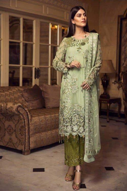 Zircon by Zebtan - Original Zircon by Zebtan Chiffon Dupatta Salwar Suit