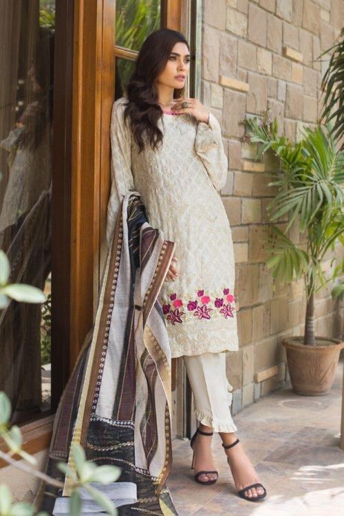Kalyan Festive Embroidery Collection - Original Kalyan Festive Embroidery Collection Chiffon Dupatta Salwar Suit