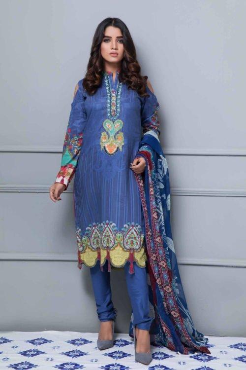 Rang Rez Designer Lawn - Original Rang Rez Designer Lawn Vol 2 Chiffon Dupatta Salwar Suit