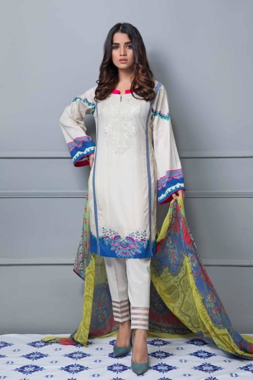 *Hot on Sale* Rang Rez Designer Lawn Vol 2 Chiffon Dupatta Salwar Suit
