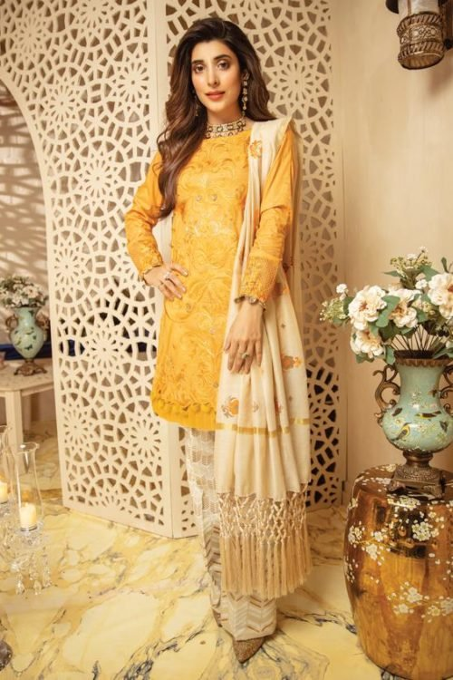 *On Sale* Rang Rasiya's Luxury Festive Carnation HOT Chiffon Dupatta Salwar Suit