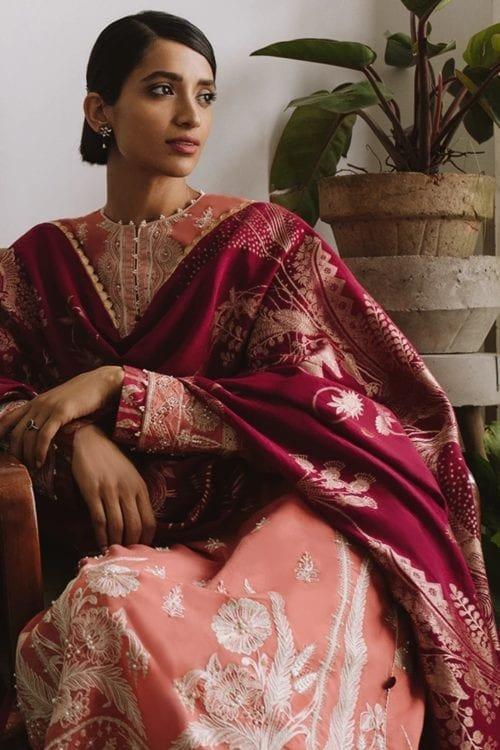 *On Sale* Chandni Unstitched Lawn by Zaha – Elan NUZHAT (ZF2-03) Chandni Unstitched Lawn by Zaha - Elan