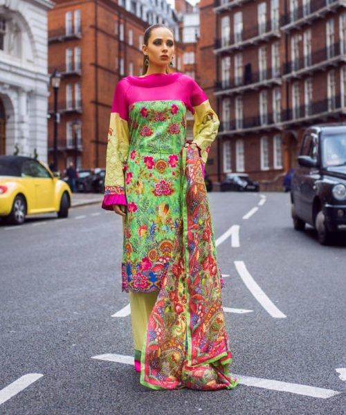 *On Sale* Honey Waqar by Regalia Textiles 2B Chiffon Dupatta Salwar Suit