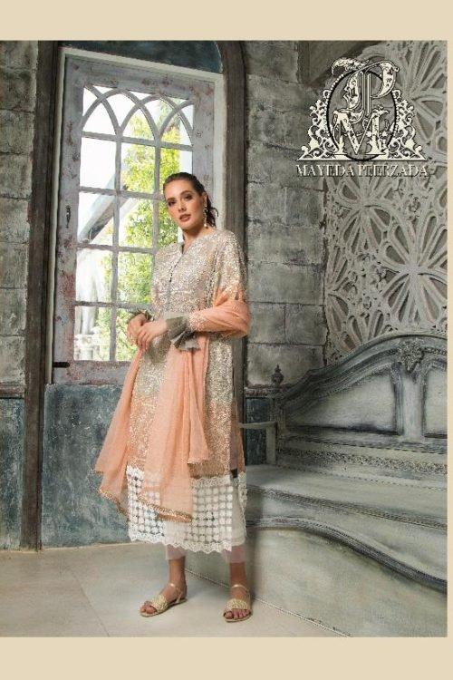 *On Sale* Mayeda Peerzada Chikankari Lawn RESTOCKED Chiffon Dupatta Salwar Suit