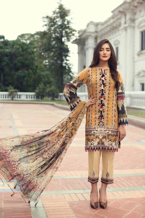Iris Lawn by Jazmin - Original Iris Lawn by Jazmin Chiffon Dupatta Salwar Suit