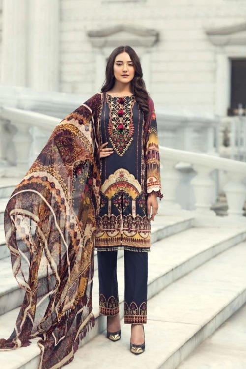 *On Sale* Iris Lawn by Jazmin Chiffon Dupatta Salwar Suit