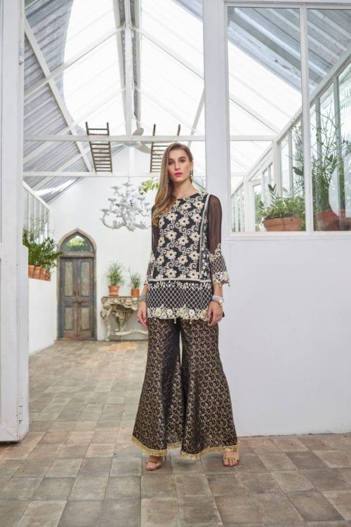 *On Sale* Azure Ensembles Hand Embellished Festive Night Aura – E08 RESTOCKED Party Wear Salwar Kameez and Salwar Suits in India