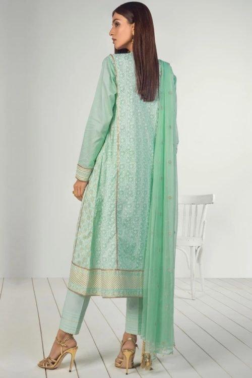 Orient Mid Summer Lawn - Original Orient Mid Summer Lawn OTL-19-201-A Chiffon Dupatta Salwar Suit