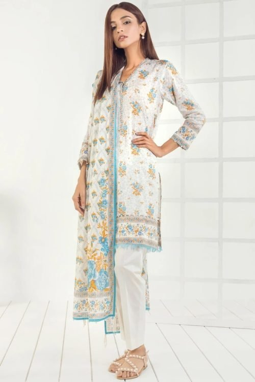 Orient Mid Summer Lawn - Original Orient Mid Summer Lawn OTL-19-169-A Lawn Dupatta Salwar Suits