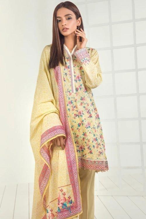 Orient Mid Summer Lawn - Original Orient Mid Summer Lawn OTL-19-193-A Lawn Dupatta Salwar Suits