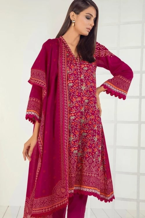 Orient Mid Summer Lawn - Original Orient Mid Summer Lawn OTL-19-165-C Lawn Dupatta Salwar Suits