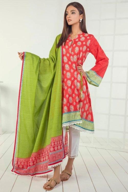 Orient Mid Summer Lawn - Original Orient Mid Summer Lawn OTL-19-166-C Lawn Dupatta Salwar Suits
