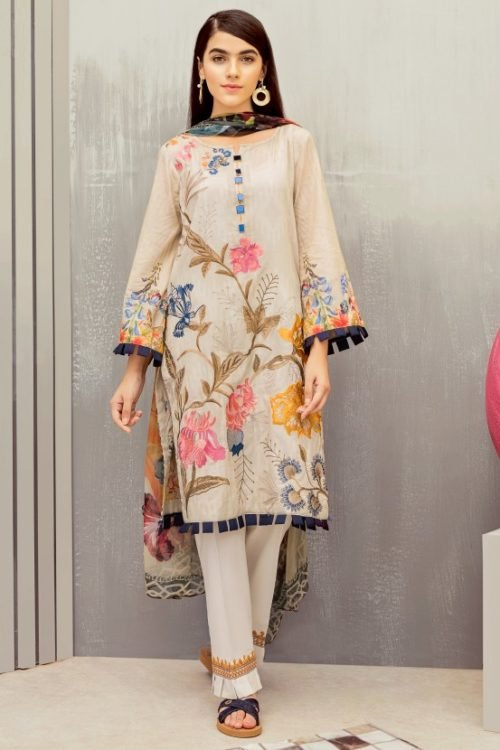 *On Sale* Iznik Festive Lawn RESTOCKED Chiffon Dupatta Salwar Suit