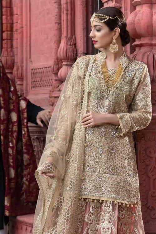 Pakistani Bridal Wedding Dress Collection - Original Pakistani Bridal Wedding Dress by Maryum n Maria C-03 bridal
