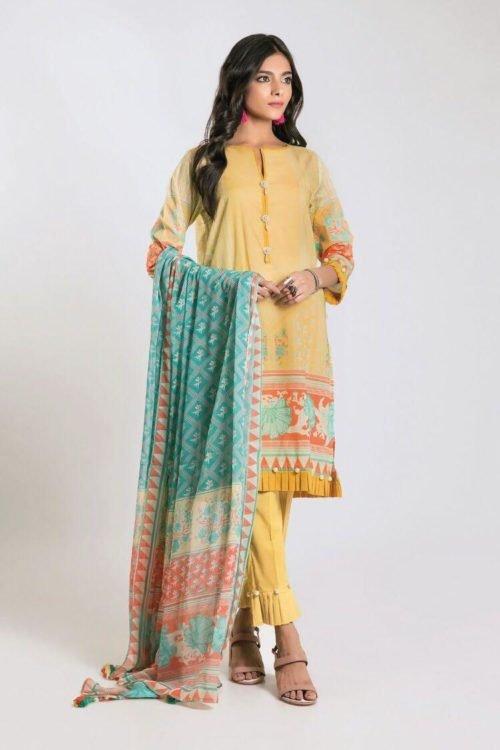 Khaadi Khaadi Limited Edition 2019 DF Series Chiffon Dupatta Salwar Suit