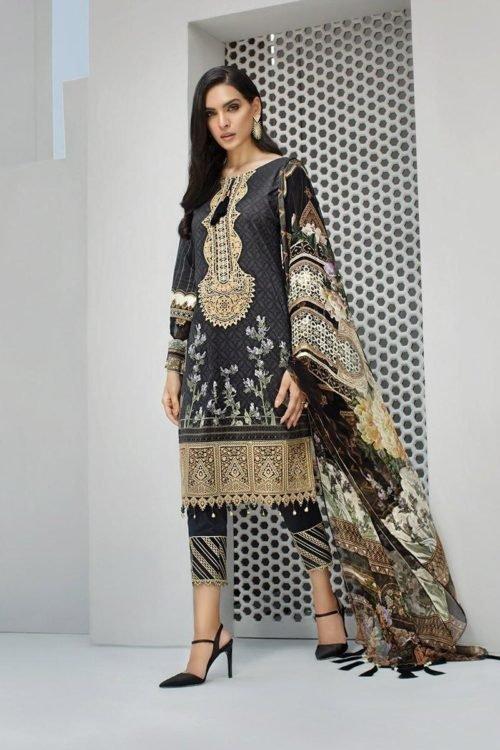 Iris Lawn by Jazmin - Original Iris Lawn by Jazmin Vol 2 Chiffon Dupatta Salwar Suit