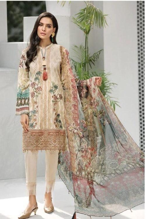 *On Sale* Iris Lawn by Jazmin Vol 2 RESTOCKED Chiffon Dupatta Salwar Suit