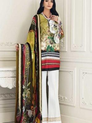 Nourhan Ayzelea Lawn - Original Nourhan Ayzelea Lawn Chiffon Dupatta Salwar Suit