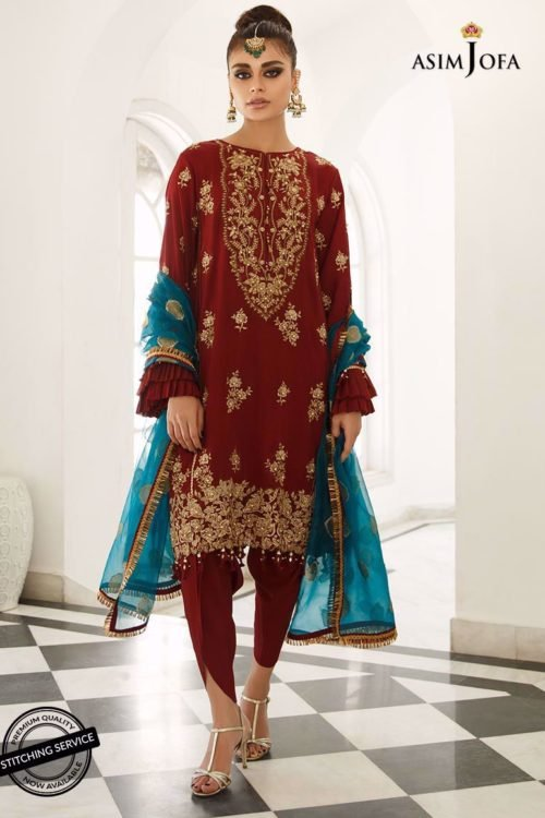 Ready to Ship Zartaar Collection by Asim Jofa AJZ-06 Ready to Ship - Original Pakistani Suits
