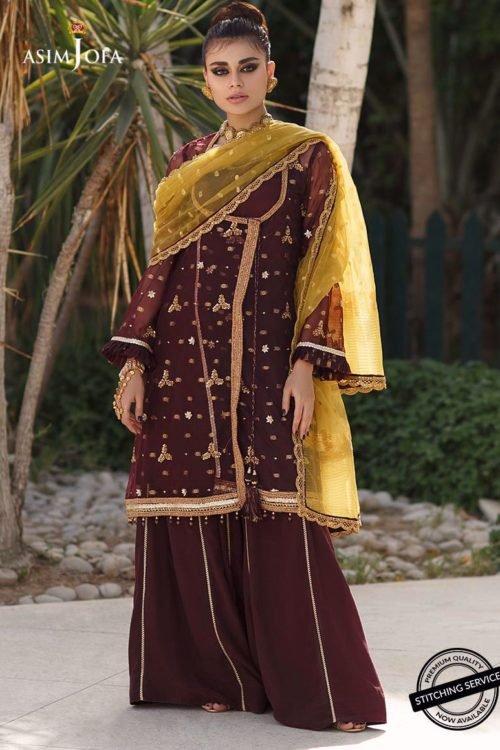 Ready to Ship Zartaar Collection by Asim Jofa AJZ-04 Ready to Ship - Original Pakistani Suits