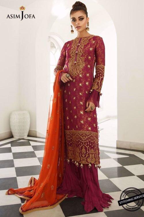 *On Sale* Zartaar Collection by Asim Jofa AJZ-01 RESTOCKED Ready to Ship - Original Pakistani Suits