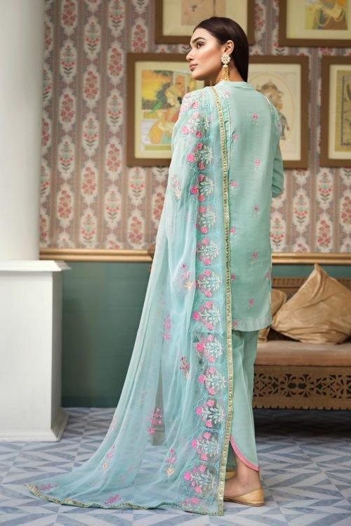 *Hot on Sale* Raaya Embroidered Lawn Winter Karandi by Rang Rasiya D 703 A HOT pakistani suits in delhi