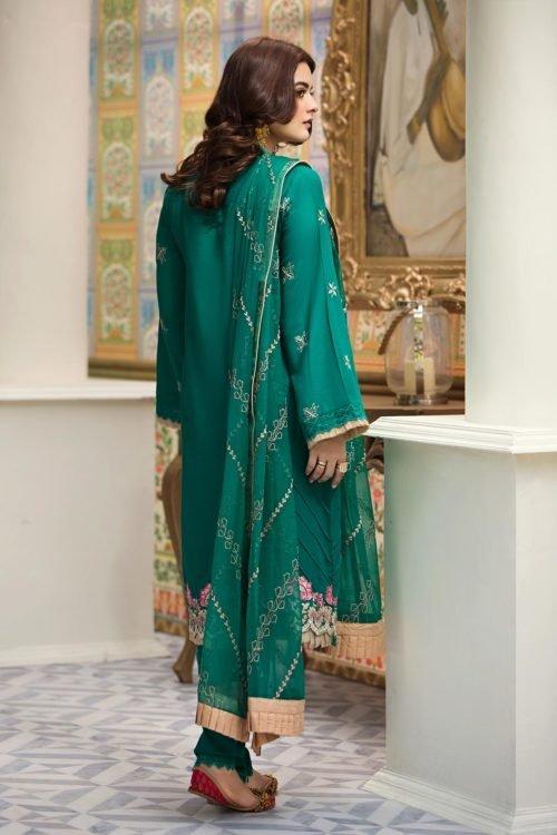 *On Sale* Raaya Embroidered Lawn Winter Karandi by Rang Rasiya D 706 A Ready to Ship - Original Pakistani Suits