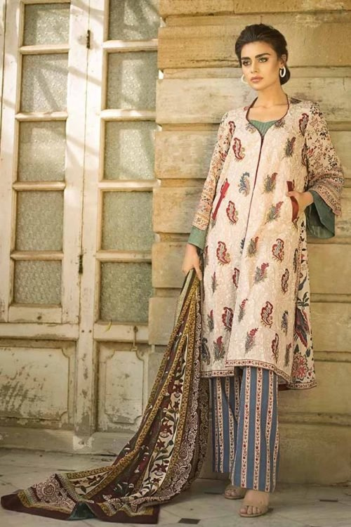 *On Sale* Tena Durrani Winter Shawl TD 02 Salwar Suits Pakistani Suits for Winter