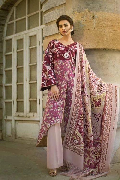 *On Sale* Tena Durrani Winter Shawl TD 04A RESTOCKED Salwar Suits Pakistani Suits for Winter