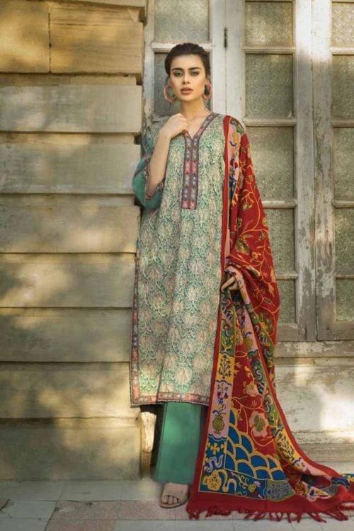 *Hot on Sale* Tena Durrani Winter Shawl TD 06B HOT Ready to Ship - Original Pakistani Suits