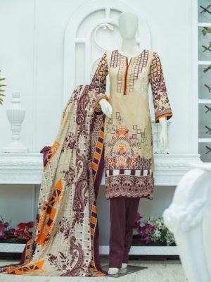*Hot on Sale* Lyrique – Special Edition Lawn Collection by Alkaram Studio JC-16-19-BLUE | 3 PIECE HOT Alkaram Pakistani Suits