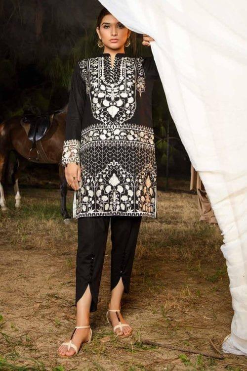 *Hot on Sale* Muzayyan by Adan's Libas Black Kurti Collection Design 9 HOT Adan Libas Pakistani Suits
