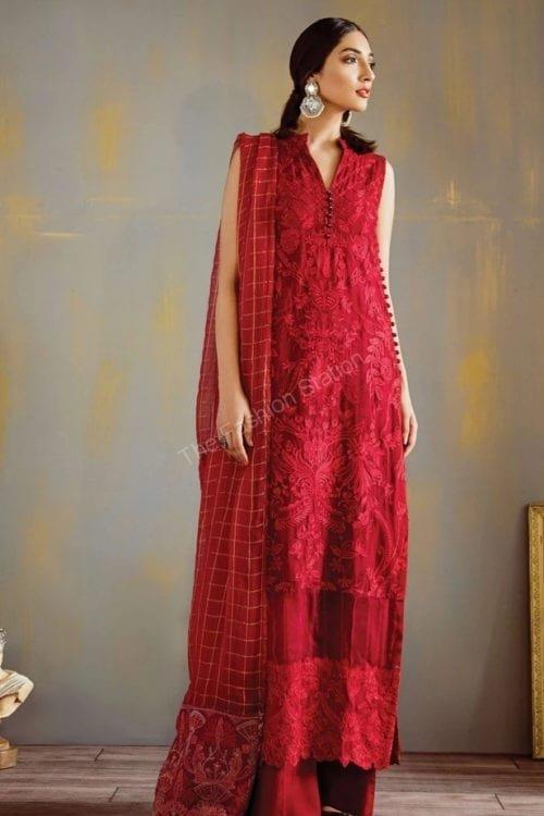 Opulent Chiffon by Iznik - Original Opulent Chiffon by Iznik Design Scarlet Red RESTOCKED [tag]