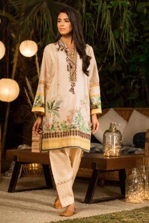 Sapphire Winter Collection 2019 - Original Sapphire Winter Collection 2019 Design Countyard Cloud A Salwar Suits Pakistani Suits for Winter