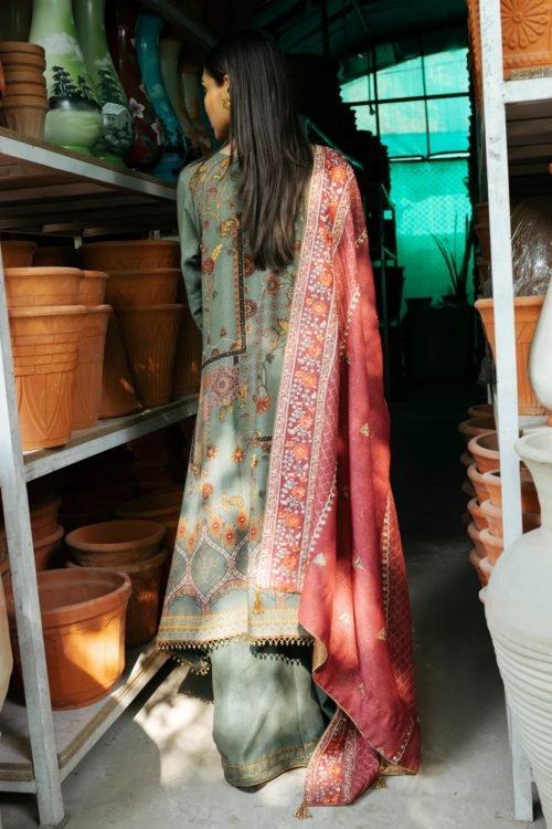 Rehab Winter Shawl by Qalamkar - Original Rehab Winter Shawl by Qalamkar Design QWK 03 Salwar Suits Pakistani Suits for Winter