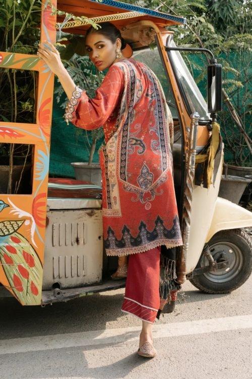 Rehab Winter Shawl by Qalamkar - Original Rehab Winter Shawl by Qalamkar Design QWK 10 RESTOCKED Salwar Suits Pakistani Suits for Winter