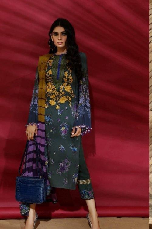 Sana Safinaz | Winter Muzlin | 2019 | 10B Sana Safinaz Winter Muzlin 2019 - Original Salwar Suits Pakistani Suits for Winter