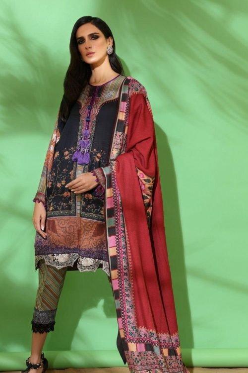 Sana Safinaz | Winter Muzlin | 2019 | 13B Sana Safinaz Winter Muzlin 2019 - Original Salwar Suits Pakistani Suits for Winter