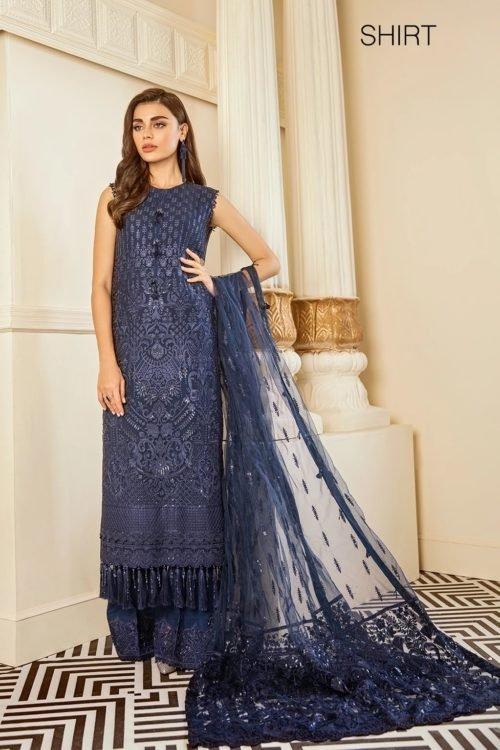 Baroque Chantelle Chiffon - Original Baroque Chantelle Chiffon Design 2- Delph Salwar Suits Pakistani Suits for Winter