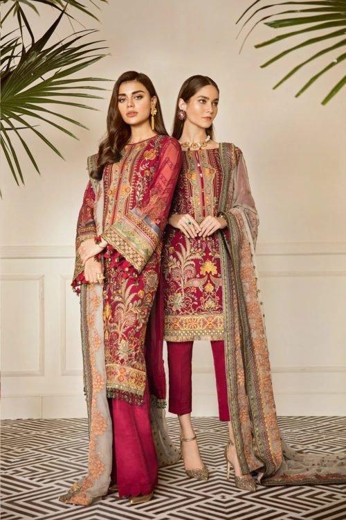 Baroque Chantelle Chiffon - Original Baroque Chantelle Chiffon Design 06 – Currant Salwar Suits Pakistani Suits for Winter